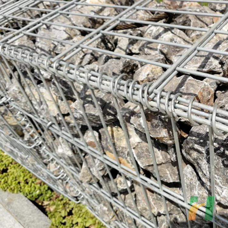 welded stone gabion fence