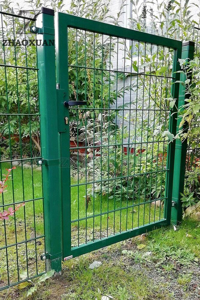galvanized metal fence garden gate