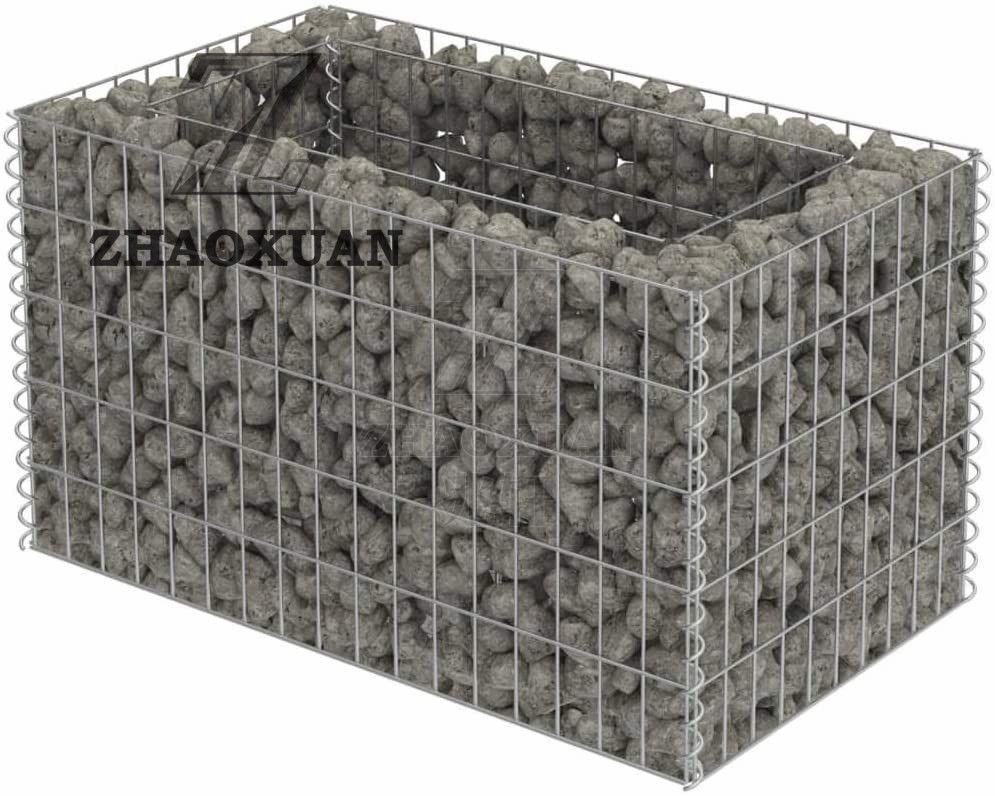 welded stone gabion fence / wire mesh gabion box for stone/ stone wall gabion fence